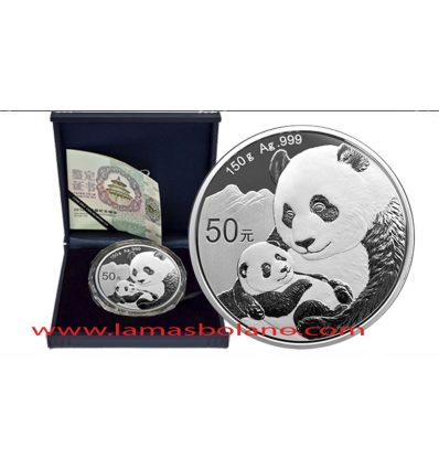 MONEDA CHINA PANDA 2019  5 ONZAS  150 GRAMOS PROOF