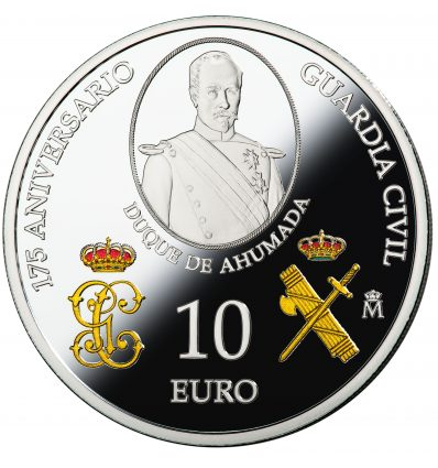 MONEDA ESPAÑA PLATA 10 EUROS 2019 175 ANIVERSARIO DE LA GUARDIA CIVIL PROOF