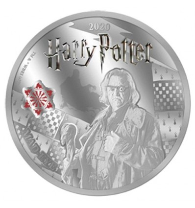MONEDA HARRY POTTER MAD EYE A COLOR 2020 SAMOA HALF DOLLAR SILVER PLATED PROOF LIKE