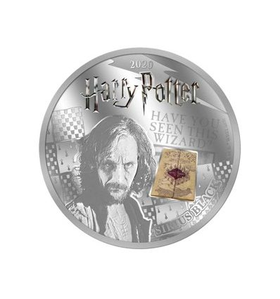 HARRY POTTER SIRIUS BLACK A COLOR 2020 SAMOA HALF DOLLAR SILVER PLATED PROOF LIKE BLISTER