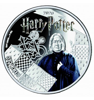 MONEDA HARRY POTTER SEVERUS SNAPE A COLOR 2020 SAMOA HALF DOLLAR SILVER PLATED PROOF LIKE BLISTER