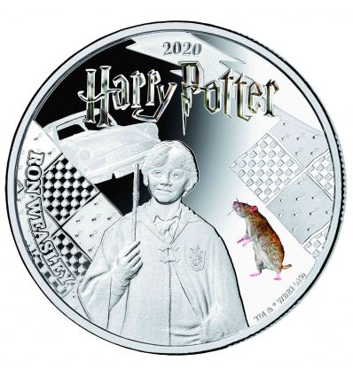HARRY POTTER RON WEASLEY A COLOR 2020 SAMOA HALF DOLLAR SILVER PLATED PROOF LIKE BLISTER